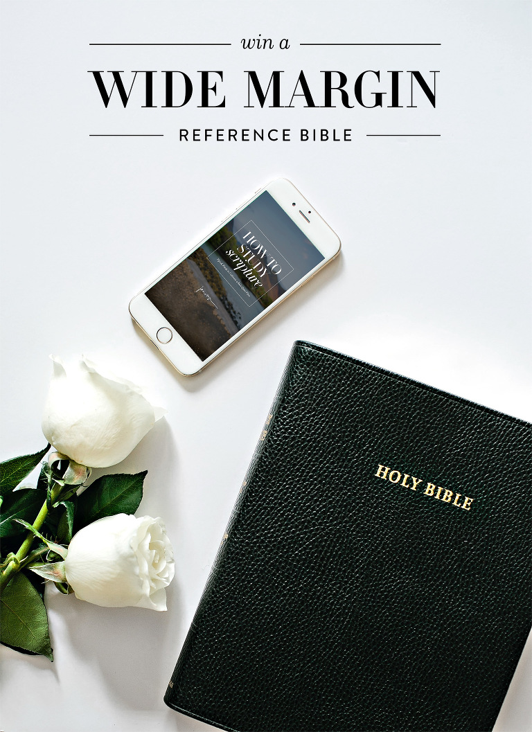 Wide Margin Reference Bible Giveaway